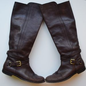 Coach brown leather riding boots